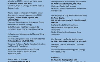 Global Healthcare Summit 2019 American Association of Physicians of Indian Origin July 21st – 24th, 2019 Hyderabad, TS,India Urology Workshop