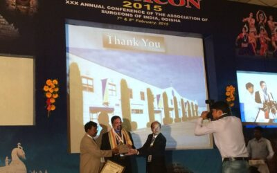 Delivering the Susruta Lecture at the Annual Meeting of Surgeons of India Odisha Chapter, Feb 7, 2015
